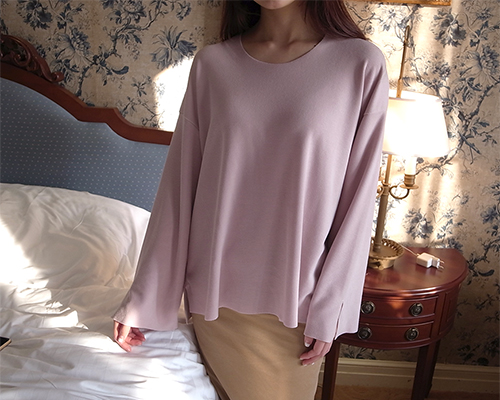 over cut top  / light pink