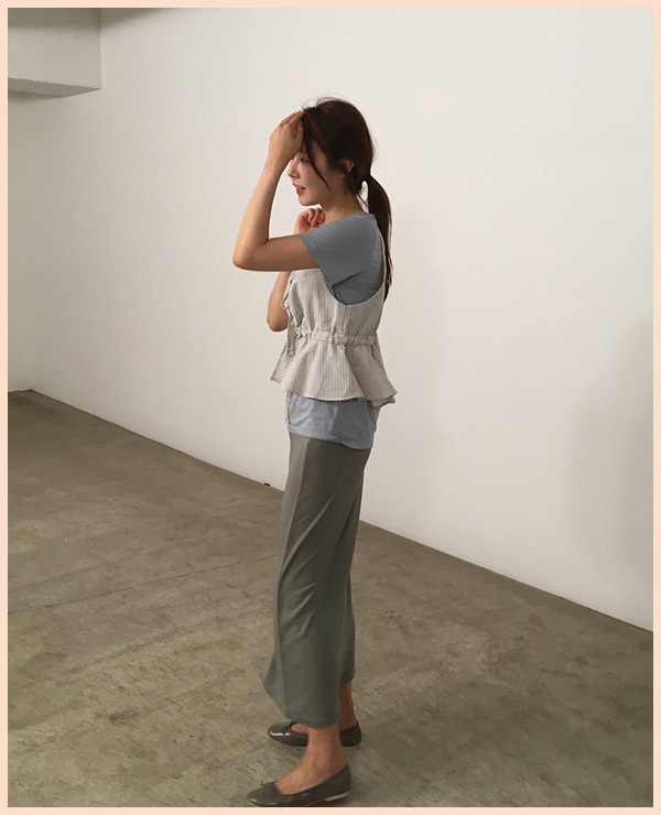 BOL soft long skirt / khaki