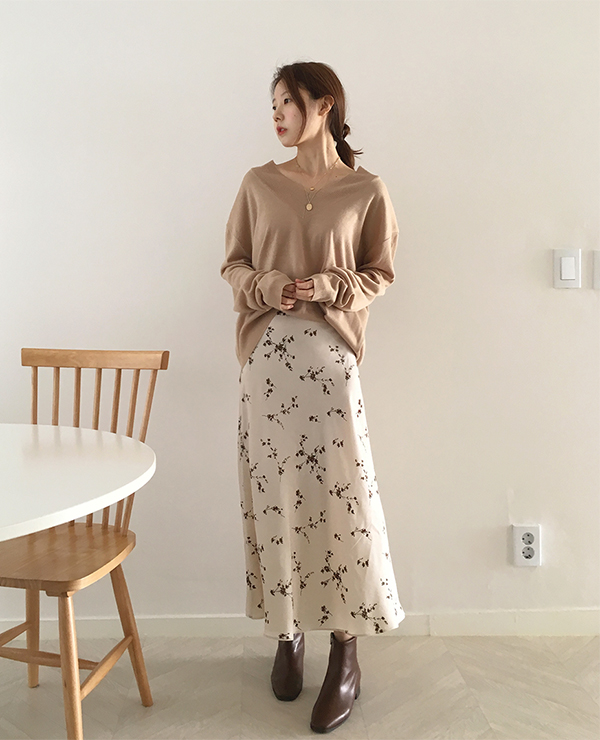bo flower skirt ( 2color )