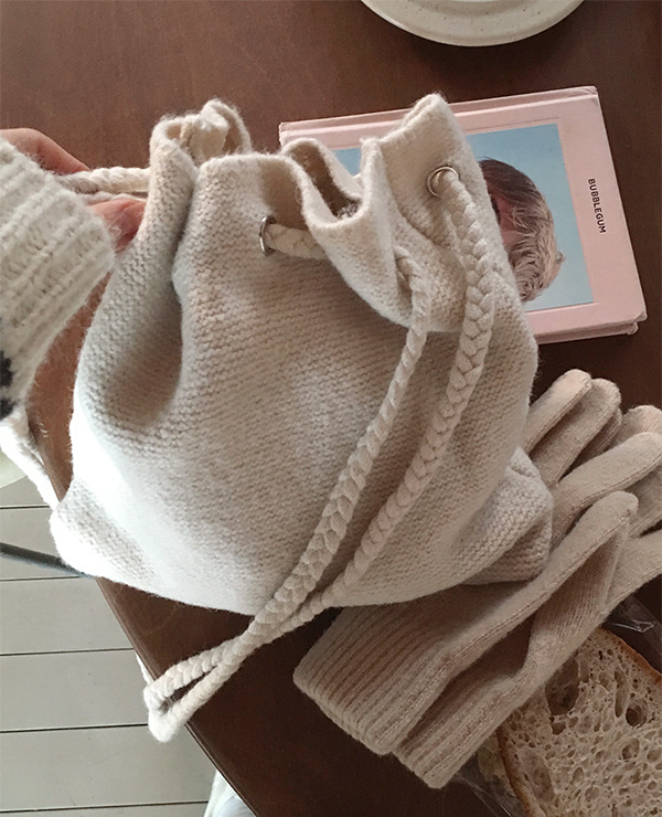 knit small bag ( 3color )