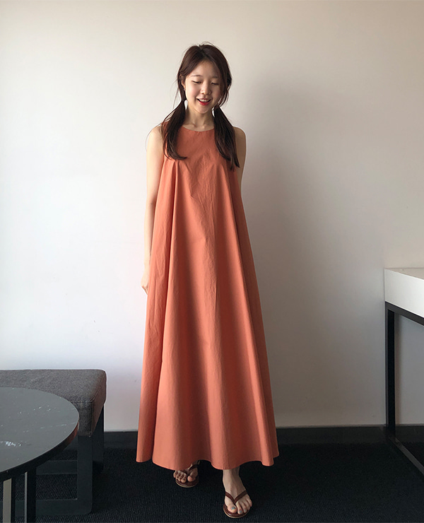 orange flow dress
