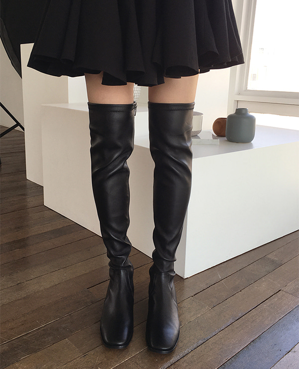 leather tight boots